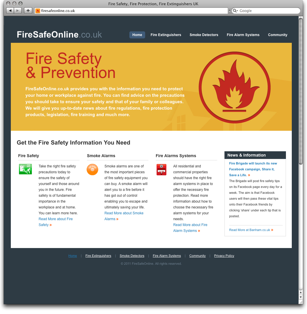 Fire Safe Online Home Page