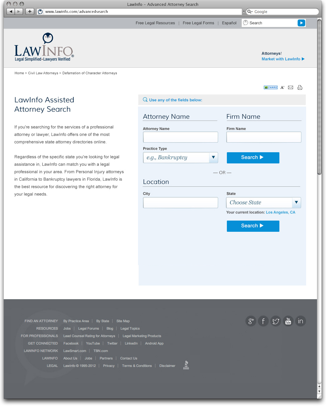 Law Info Advanced Search