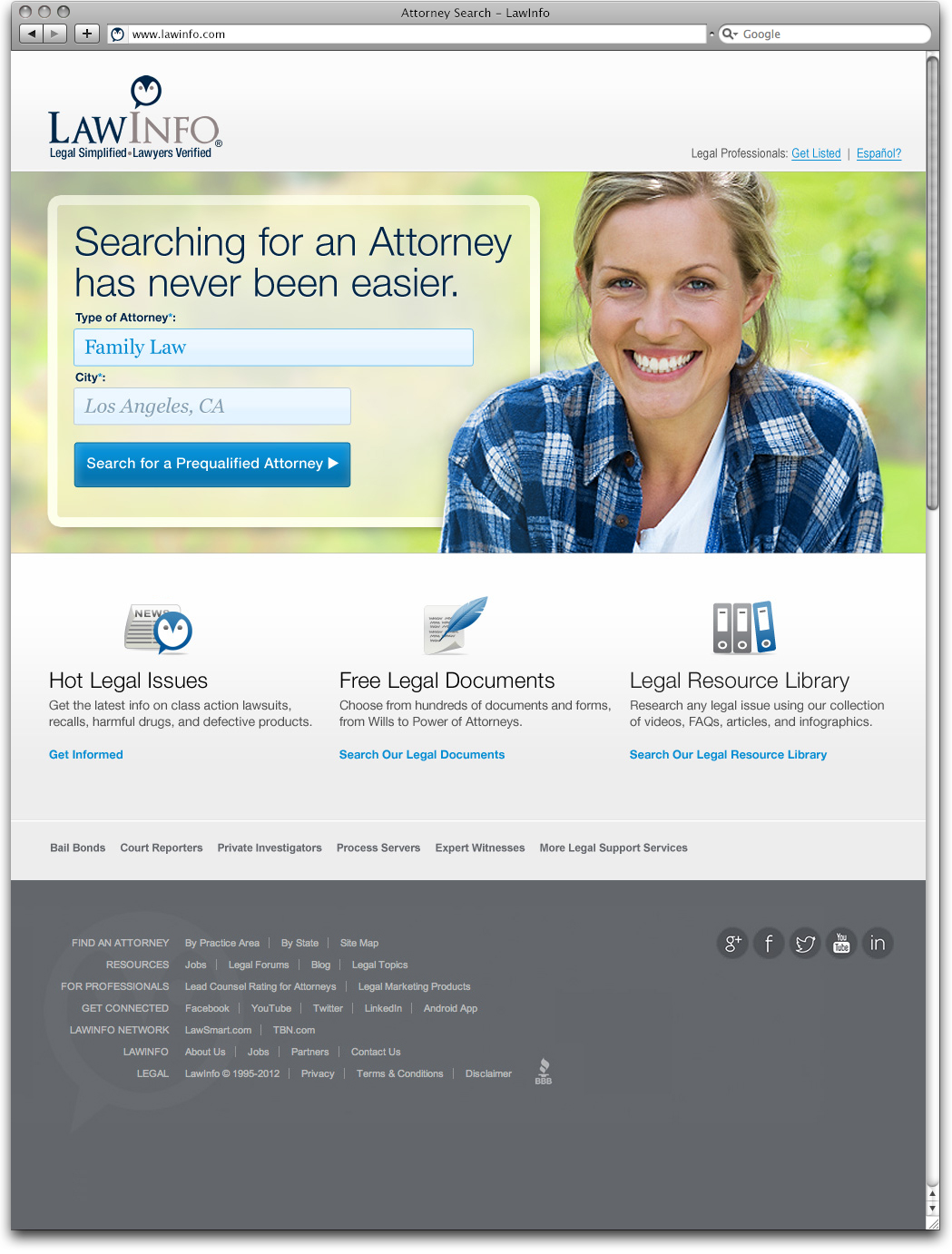 Law Info Landing Page