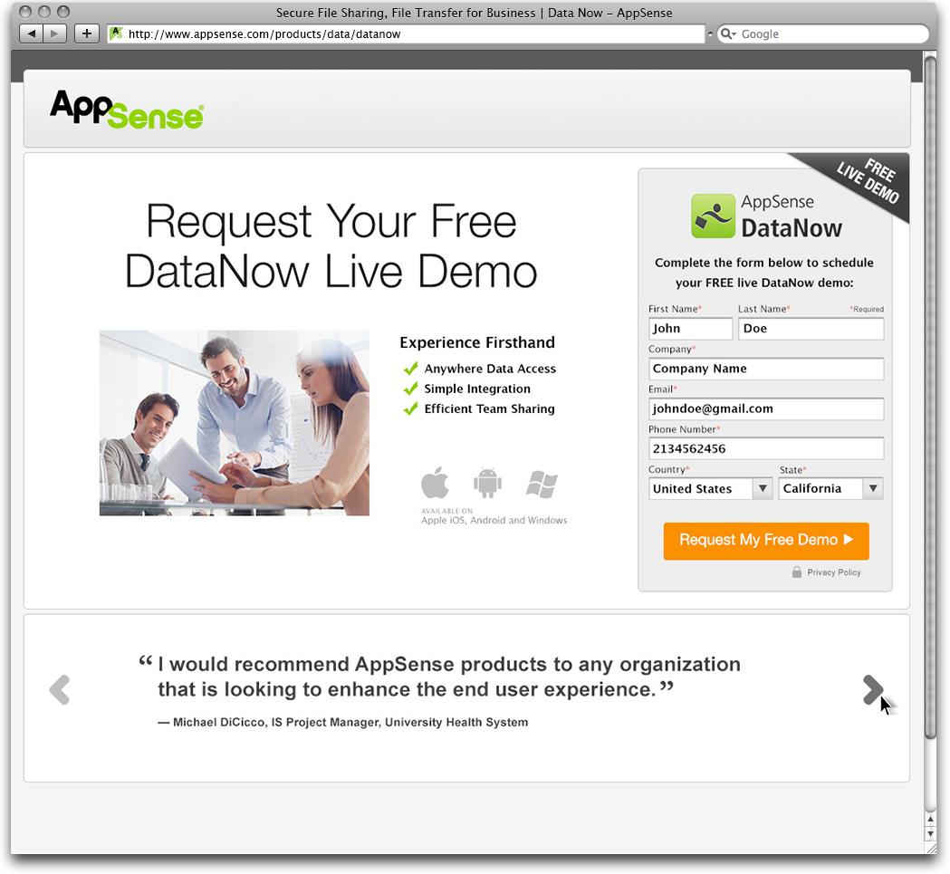 AppSense DataNow