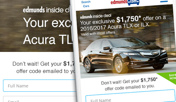 Edmunds Inside Deal Landing Page